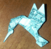 hummingbird dollar bill money logo