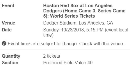 omg my money 2018 world series dodgers tickets game 5