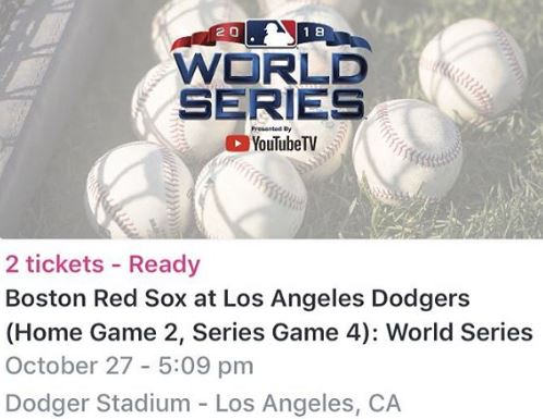 omg my money 2018 world series dodgers tickets