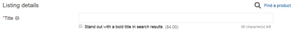 ebay item list title