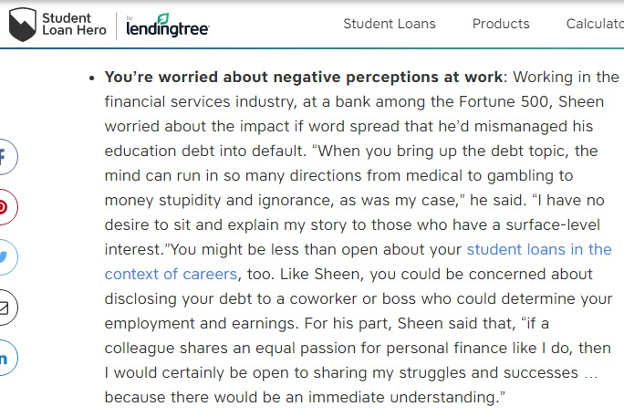student loan hero lending tree feature snippet2