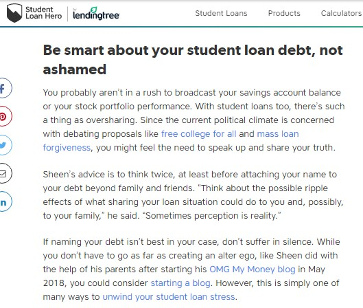 student loan hero lending tree feature snippet4