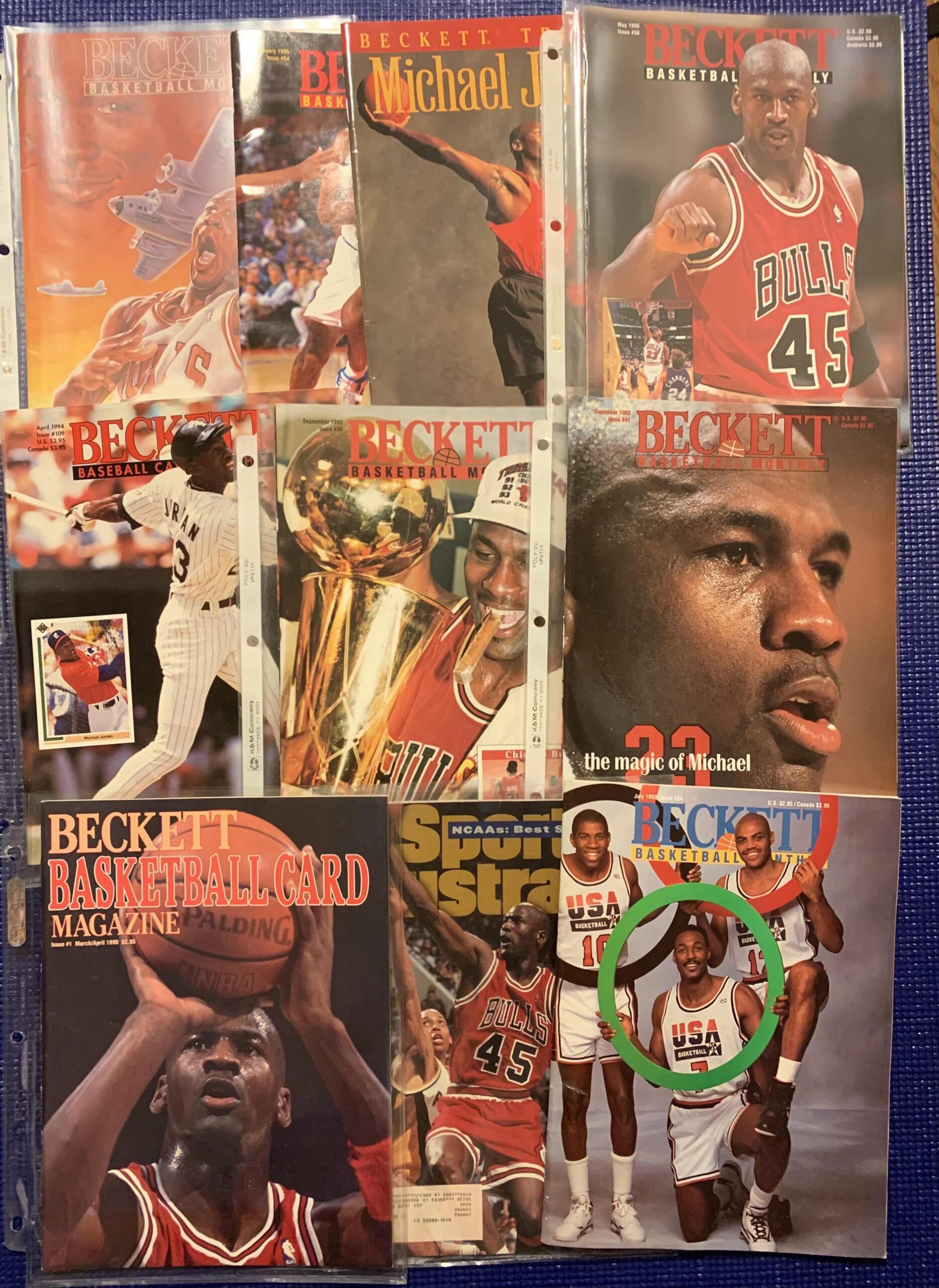 michael jordan sports magazine collection beckett sports illustrated