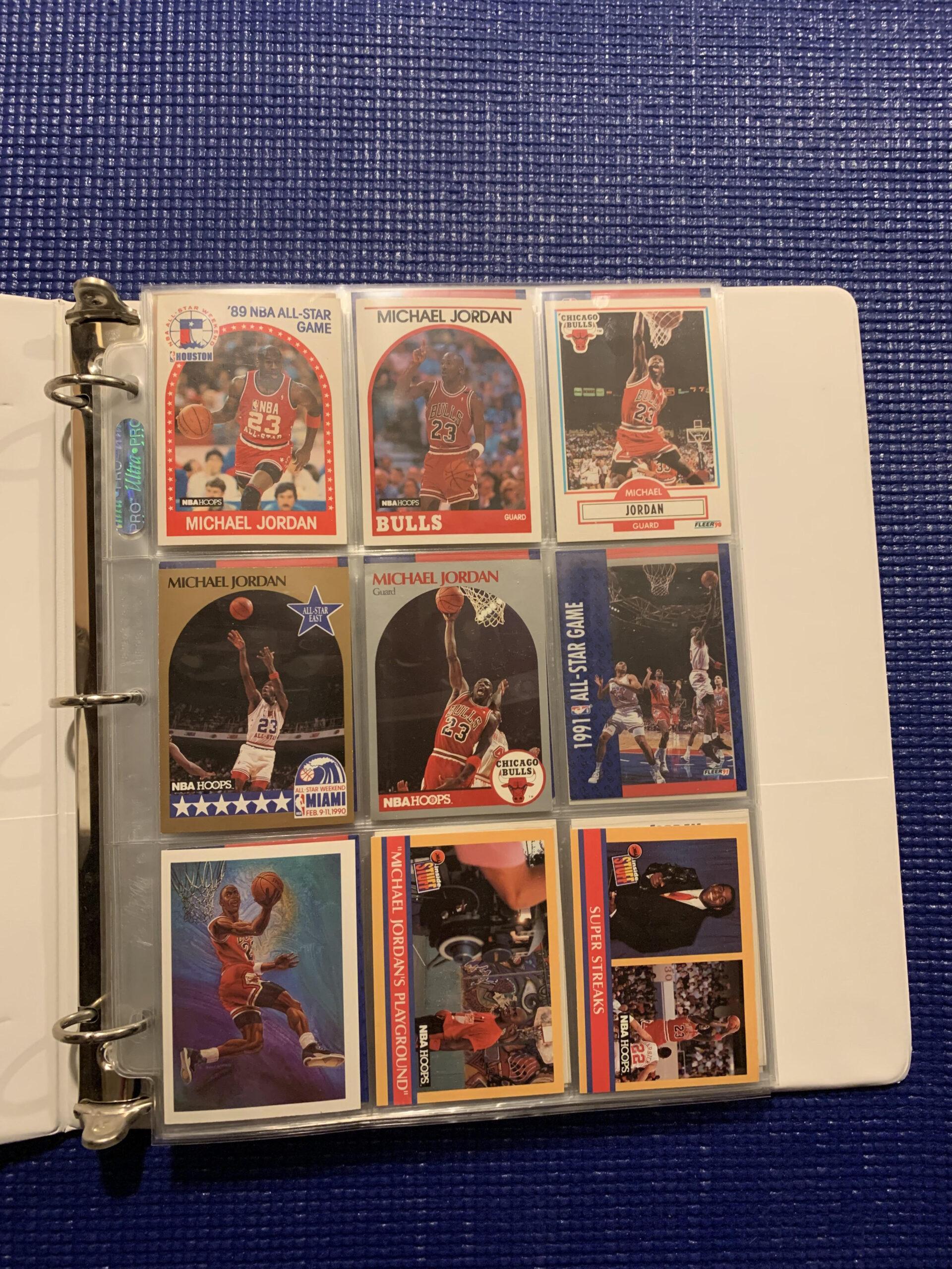 michael jordan sports cards collection binder